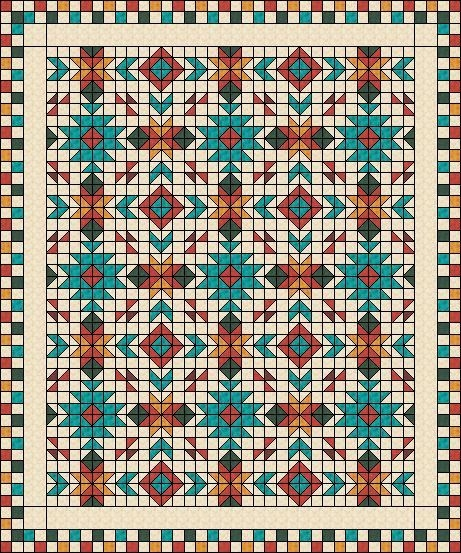 New southwest quilt pattern southwest quilt nativ american 9 Stylish Southwestern Quilt Patterns