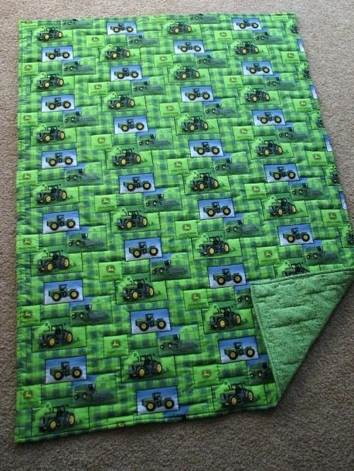 New tractor quilt blankets farm pattern john tractors blanket 11 New John Deere Quilt Patterns Gallery