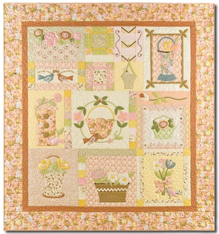 New vintage find last one bunny hill designs blossom time quilt kit free us shipping 10 Interesting Bunny Hill Quilt Patterns Inspirations