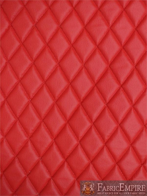 New vinyl grain texture quilted foam red fabric 2 x 3 diamond Interesting Vinyl Quilted Fabric Gallery