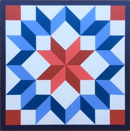 New wagon wheelcarpenters wheel barn quilt in red white and blue 9 Elegant Wagon Wheel Quilt Pattern Gallery