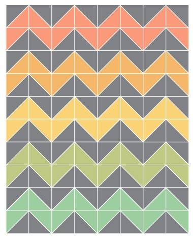 plans for chevron quilt chevron quilt pattern chevron 10   Chevron Quilt Pattern Using Rectangles Gallery