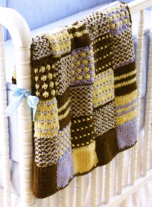 quilt knitted patchwork 11 Modern Knitted Patchwork Quilt Patterns