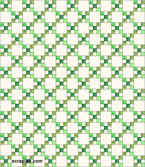 single irish chain quilt pattern 10   Double Irish Chain Quilt Pattern Queen