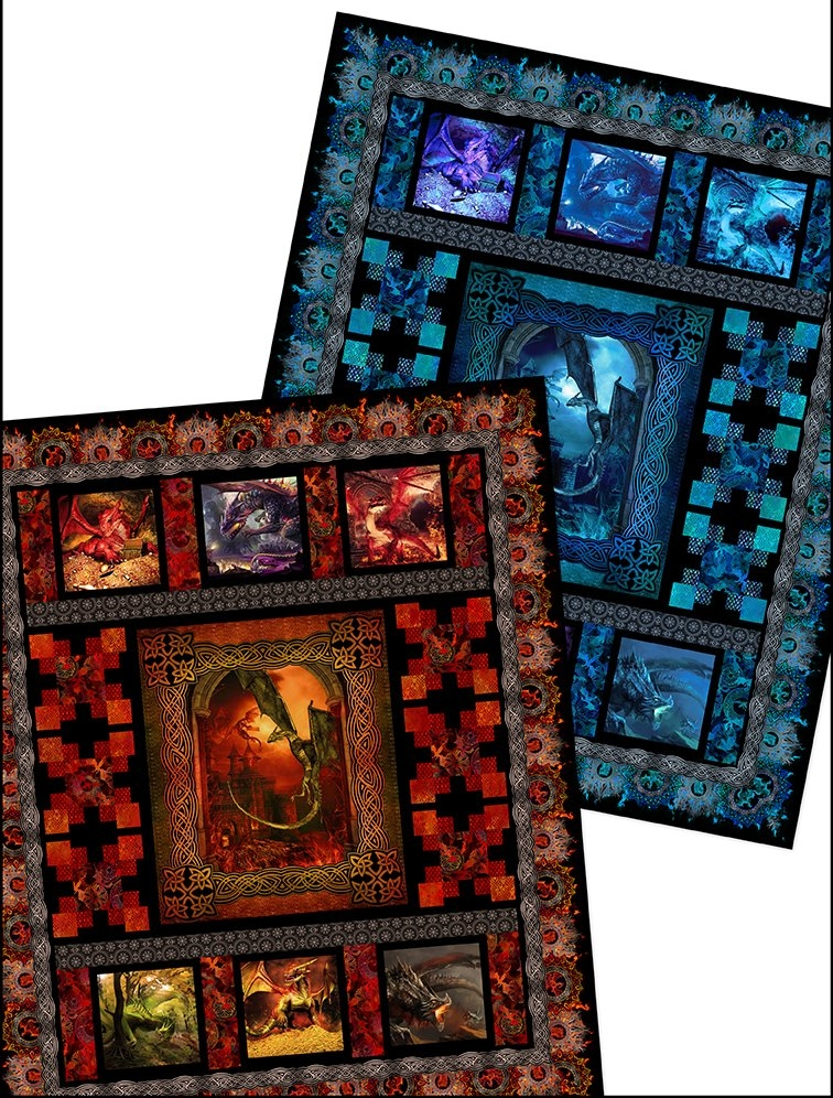 Stylish dragons quilt pattern 9 Modern Dragon Quilt Patterns Inspirations