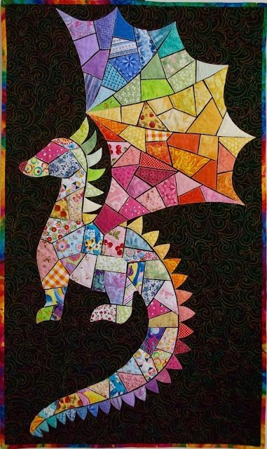 Stylish lily the dragon quilt art olena pugachova dragon 9 Modern Dragon Quilt Patterns Inspirations
