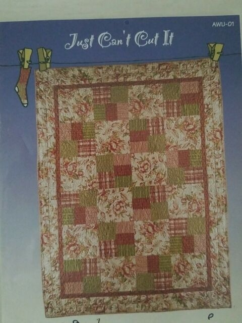 Stylish new just cant cut it easy pieced quilt pattern all washed up beginner 6 size 10 New All Washed Up Quilt Patterns Gallery