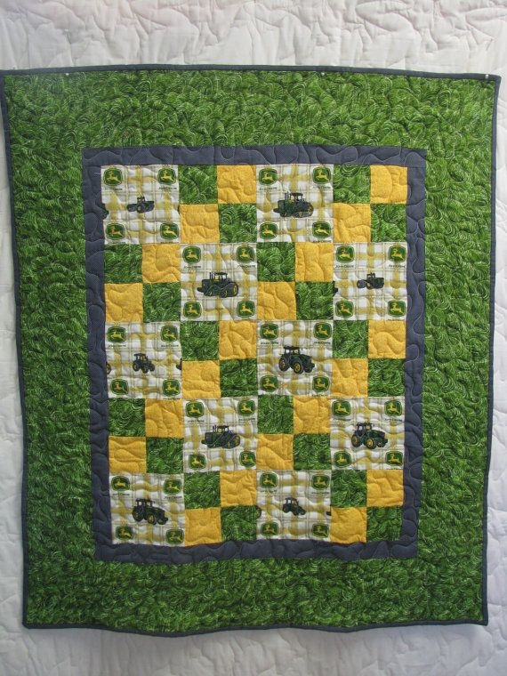 Stylish pattern idea for hs quilt deer ba quilt tractor quilt 11 New John Deere Quilt Patterns Gallery