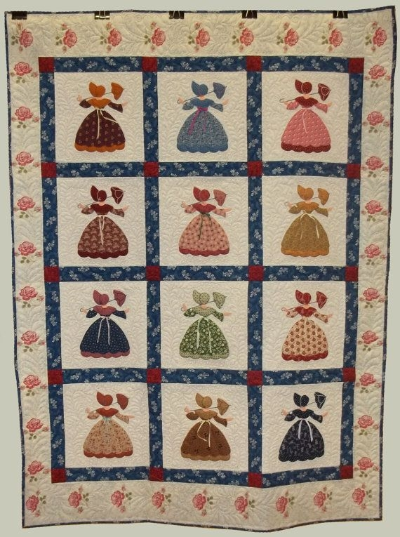 Stylish pdf sunbonnet sue southern belle quilt pattern etsy in 10 Unique Southern Belle Quilt Pattern