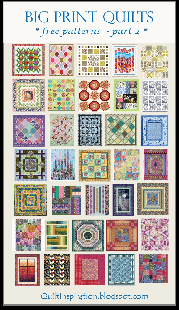 Stylish quilt inspiration free pattern day big print quilts part 2 10   Quilt Patterns For Large Print Fabrics Inspiration Inspirations