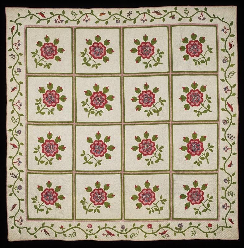 Stylish rose of sharon quilt united states mia 10 Beautiful Rose Of Sharon Quilt Pattern Inspirations