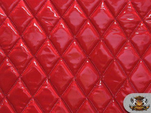 Stylish vinyl quilted foam glossy red fabric w 38 foam backing Interesting Vinyl Quilted Fabric Gallery