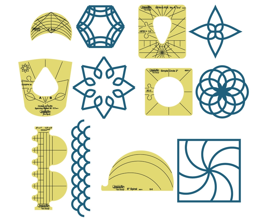 Stylish westalee design sampler template set 1 10 New Sew Steady Quilting Rulers Inspirations