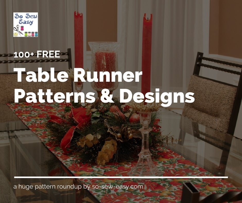 Unique 100 table runner patterns and designs for your table so 10 Stylish Easy Quilted Table Runner Patterns Inspirations
