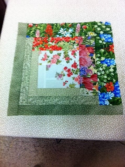 Unique finally finished my floral log cabin blocks log cabin Elegant Floral Patchwork Quilt Patterns