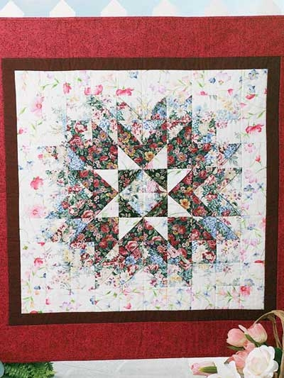 Unique floral starburst quilt quilting free patterns Elegant Floral Patchwork Quilt Patterns