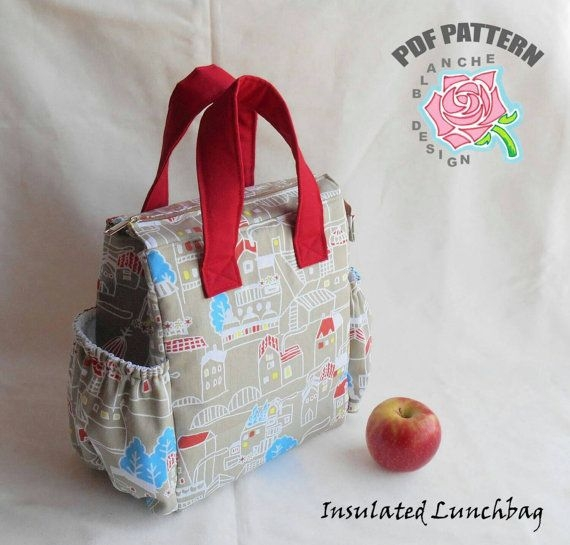 Unique insulated lunchbag pdf sewing tutorial lunch bag pattern 11 New Quilted Lunch Bag Pattern Inspirations