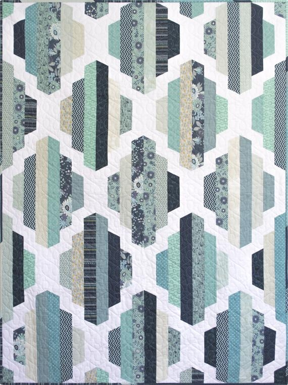 Unique modern quilt pattern pdf instant download garden lattice quilt pattern in two sizes full and throw 2 12 strips jelly roll friendly 11 Beautiful Modern Quilt Patterns Inspirations
