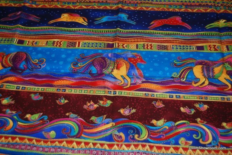 Unique p57 laurel burch horse running dancing horses quilt fabric 9 Cozy Laurel Burch Quilt Fabric