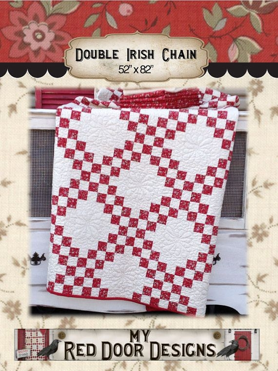 Unique pin on handcrafts quilts 10   Double Irish Chain Quilt Pattern Queen