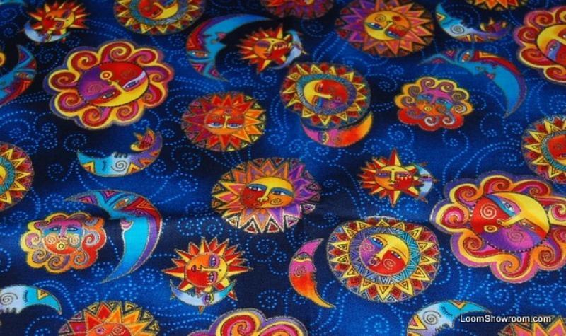 Unique t127 laurel burch celestial dreams sun and moon opposite 9 Cozy Laurel Burch Quilt Fabric