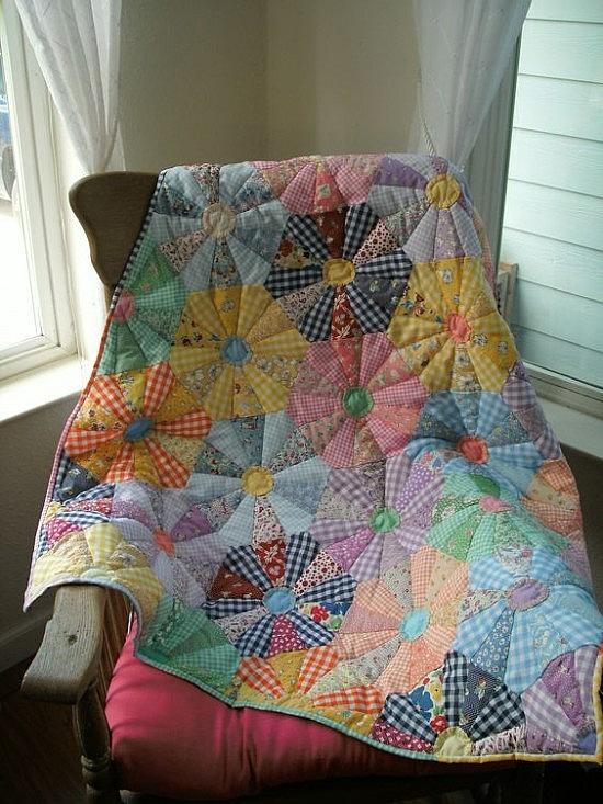 Unique this quilt brings a flower garden inside quilting digest 9 Elegant Wagon Wheel Quilt Pattern Gallery
