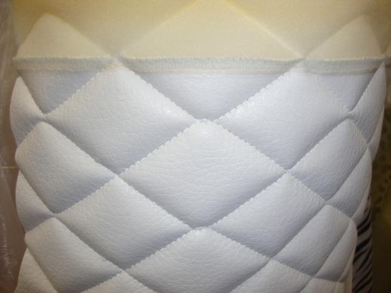 Unique white quilted vinyl fabric with 38 foam backing upholstery fabric the yard 54 wide Interesting Vinyl Quilted Fabric Gallery