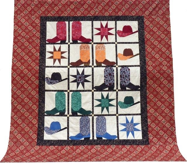 western quilt patterns cowboy boots and hats cowboy quilt 9 Cozy Cowboy Boots Quilt Pattern