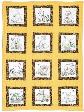 wilderness animals theme quilt blocks embroidery kit 9 Elegant Jack Dempsey Quilt Blocks Gallery