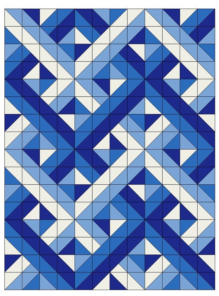 woven half square triangles optical illusion quilts Unique Quilt Patterns Using Half Square Triangles