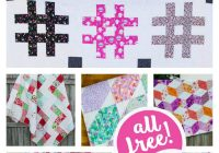 11 modern quilt patterns for you to sew all easy and free Cool Quilt Tutorials Patterns Gallery