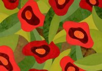 132 best poppy quilts images on pinterest flower quilts Cozy New Poppy Quilt Fabric