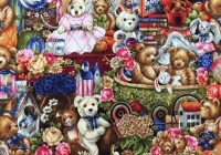 212 22252 fabri quilt buddy bears pre quilted fabric 21222221 Unique Fabri Quilt Pre Quilted Fabric