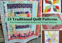 24 traditional quilt patterns free traditional quilt blocks Cool Vintage Quilt Pattern Names