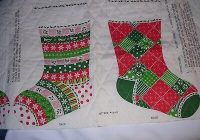 270j vintage pre quilted cotton fabric christmas stocking Unique New Pre Quilted Christmas Fabric Gallery