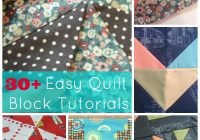 30 easy quilt block tutorials Unique Block Quilt Patterns For Beginners