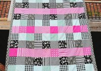 45 easy beginner quilt patterns and free tutorials polka Cool Easy Quilting Patterns For Beginners