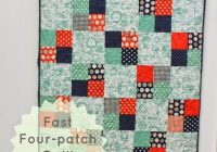 45 easy beginner quilt patterns and free tutorials polka Stylish Easy Beginner Block Quilt Patterns Inspirations