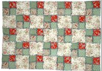 5 free rag quilt patterns to help you make cuddly quilts Unique Easy Patchwork Quilt Patterns Free