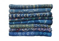5 pcs lot vintage indigo kantha quilt reversible sari kantha quilt indigo throw bed spread twin size Vintage Indigo Quilt Gallery