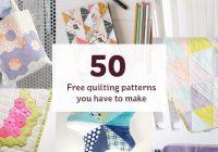 50 free quilting patterns to make hobcraft blog Unique Patchwork Quilt Patterns Uk Inspirations