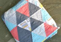 60 degree triangle quilt whipstitch Unique 60 Degree Triangle Quilt Tutorial