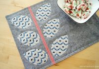 7 free quilted placemat patterns youll love on bluprint Cool Quilting Placemat Patterns