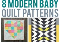 8 scrap friendly modern ba quilts Unique Patchwork Baby Quilt Patterns Inspirations