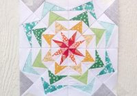 80s geese 250 18 inch paper piecing quilt pattern pdf easy star quilt pattern scrap friendly kaleidoscope pillow bag quilt Stylish 18 Inch Quilt Block Patterns Gallery