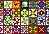 a barn quilt for your garden flea market gardening Unique Patterns For Barn Quilts Inspirations