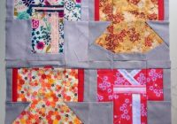a kimono pattern two ways quilts japanese quilt Stylish Kimono Quilt Paper Piecing Inspirations