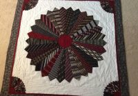 a quilt made out of ties awesome gift for a daughter made Cool Tie Quilt Ideas For Gifts Inspirations