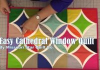 a quilt with windows very easy cathedral windows quilt Cozy Easy Cathedral Window Quilt Pattern