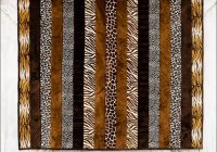 adult cuddle strip quilt kit animal print cuddlesoftkits Stylish Animal Print Quilt Patterns Inspirations